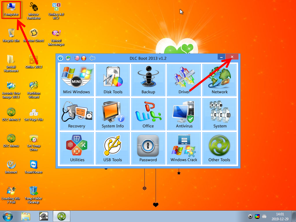 2 Man hinh mini windows 7